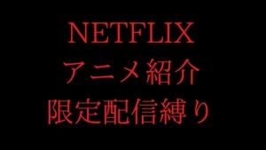 NETFLIXアニメ紹介限定配信縛り